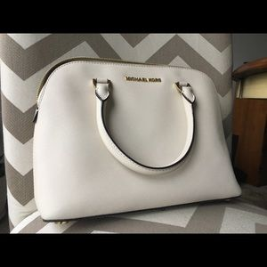 Beige Michael Kors Large Leather Handbag